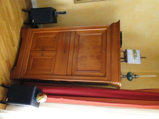 Meuble TV-BAR merisier massif artisanal