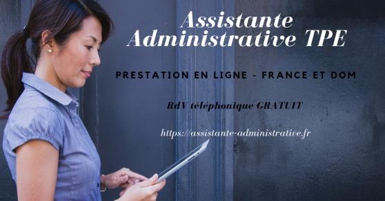 Annonce occasion, vente ou achat 'Assistante Administrative en ligne pour'