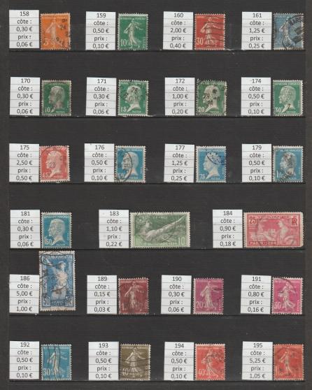 lot 120 - timbres FRANCE année 1921-24