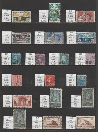lot 125 - timbres FRANCE année 1925-29