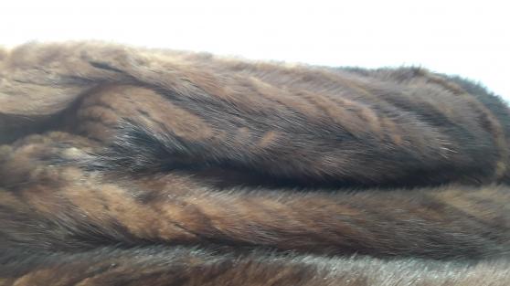 Manteau queues de vison - Photo 4
