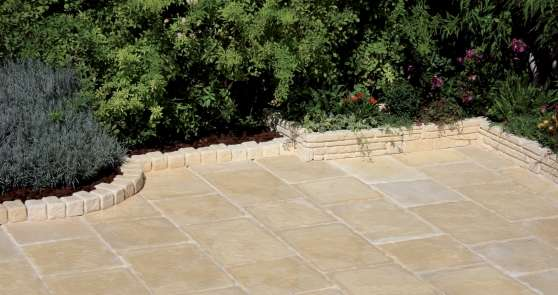 Dalle et margelle pierre reconstituee ch teaurenard jardin nature carreau - Dalles de jardin occasion ...