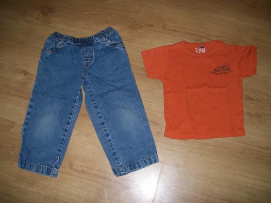 jean's+tee-shirt orange 3 ans (ref 13)