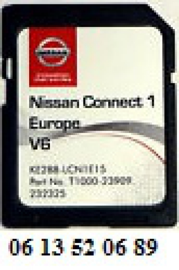 Carte SD Europe 2016 pour GPS NISSAN