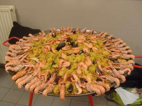 Paella cuisinée sur place