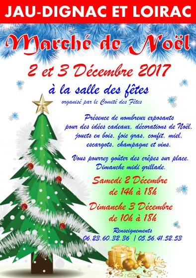 le marché de noël de jau dignac loirac - Annonce gratuite marche.fr