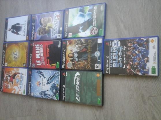PS2+ 2 manettes + carte memoire +20 jeux - Photo 2