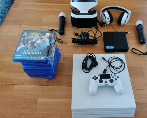 PS4 Pro+ PS VR + JEUX (prix négociable)