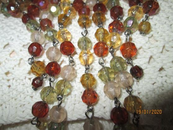 Collier Vintage Perles saphir Et Argent - Photo 2