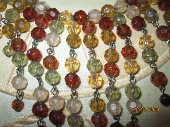 Collier Vintage Perles saphir Et Argent - Photo 3
