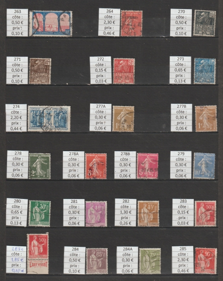 lot 130 - timbres FRANCE année 1930-34