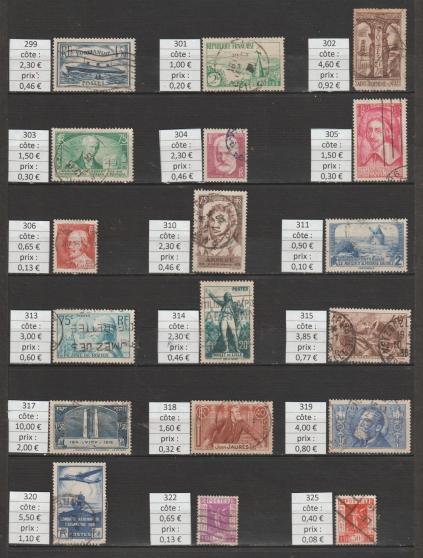 lot 135 - timbres FRANCE année 1935 - 37