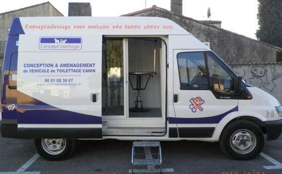 Camion de toilettage canin professionnels divers professionnels milhaud reference pro div - Salon toilettage a vendre ...