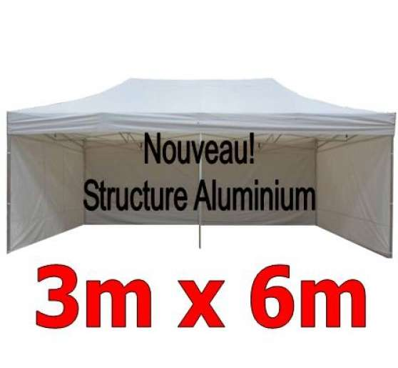 barnum pliant aluminium 3x6m blanc 4c bourges. Black Bedroom Furniture Sets. Home Design Ideas