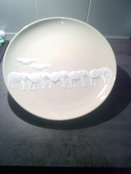 plat rond porcelaine RAYNAUD