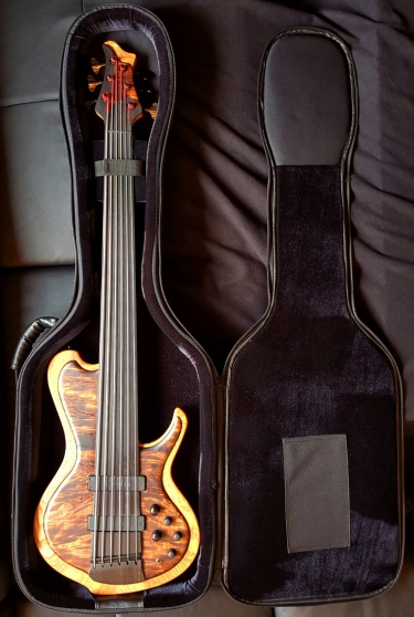 Custom hand made Fretless 6 -String Bass