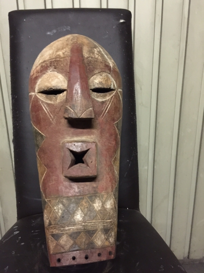 art africain Masque Songui rdc