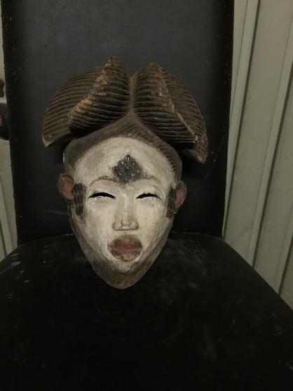 art africain masque pounou Gabon