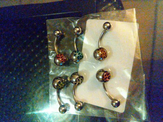 lots de 6 piercings nombril neufs