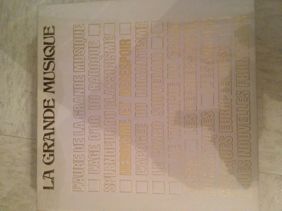 """Lot 8 livres """"la grande musique"""""""