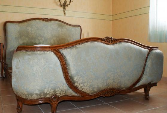 lit louis xv teint merisier 160x200 meubles d coration lits l 39 union reference meu lit. Black Bedroom Furniture Sets. Home Design Ideas
