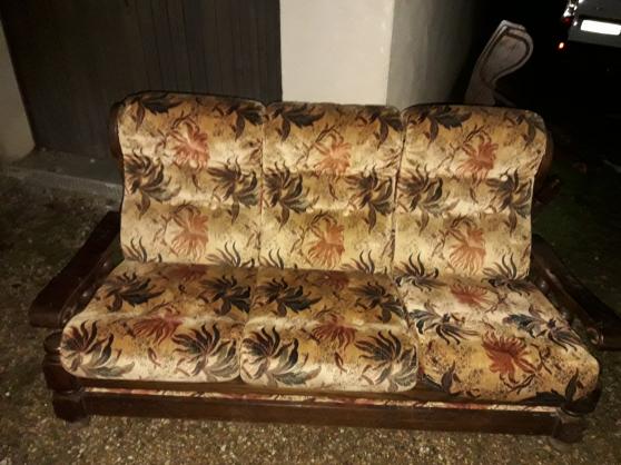 Canapé convertible lit et deux fauteuils