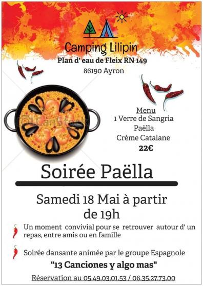 soirée paëlla - Annonce gratuite marche.fr