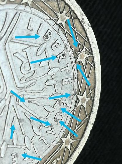 Pièce de 1 euro France 2000. - Photo 2