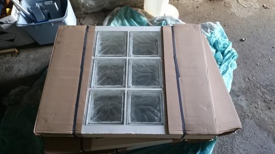 Panneau 12 briques de verre