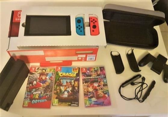 Console Switch + accessoires + jeux