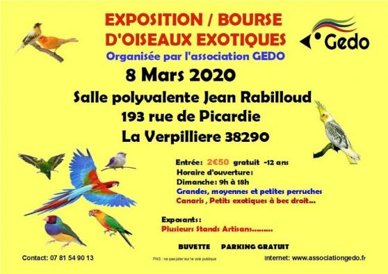 Annonce occasion, vente ou achat 'Exposition Bourse aux oiseaux'