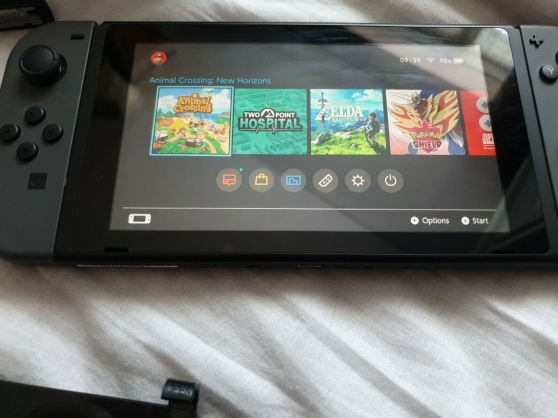 Nintendo Switch 32 Go Gris-Bundle