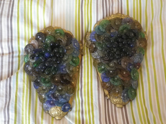 Annonce occasion, vente ou achat '2 appliques en bronze + verre de murano'