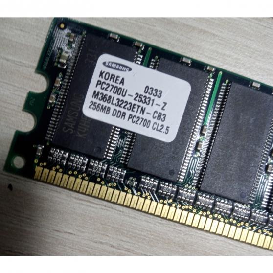 Annonce occasion, vente ou achat 'Barrette RAM SAMSUNG 256MB DDR PC2700 CL'
