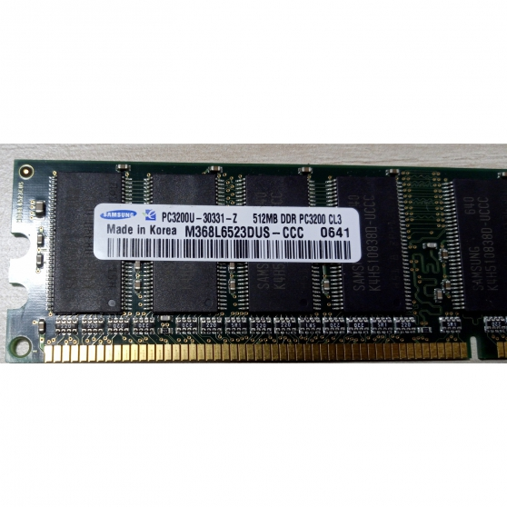 Annonce occasion, vente ou achat 'Barrette RAM SAMSUNG 512MB DDR PC3200U-3'