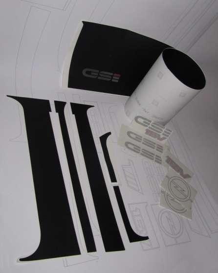 Kit autocollants pour Opel kadett GSI - Photo 2