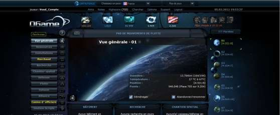 Annonce occasion, vente ou achat 'Compte ogame top 700'