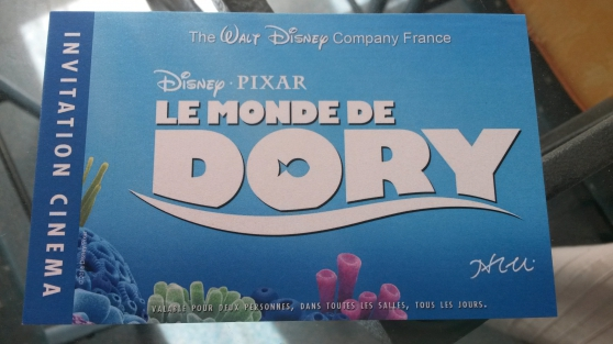 Invitation deux places Le Monde de Dory - Photo 2