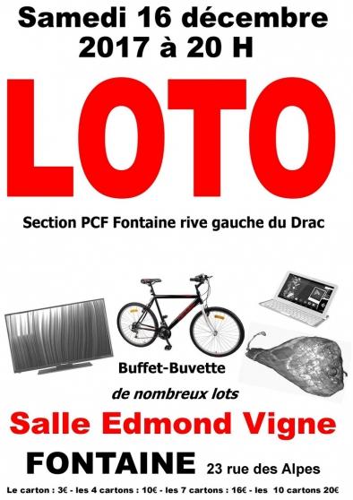 loto de noël  16 décembre 2017 à 20 h - Annonce gratuite marche.fr
