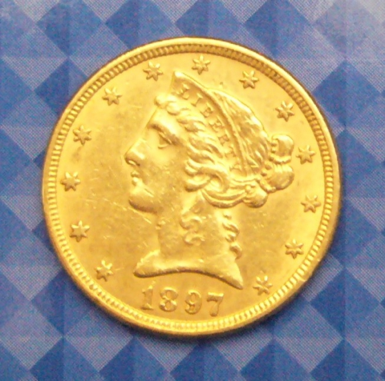 Liberty 5 dollars Half Eagle 1897