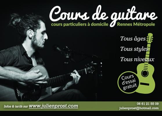 Annonce occasion, vente ou achat 'Donne cours de guitare à Rennes'