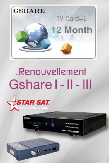 Abonnement G-share Starsat officiel