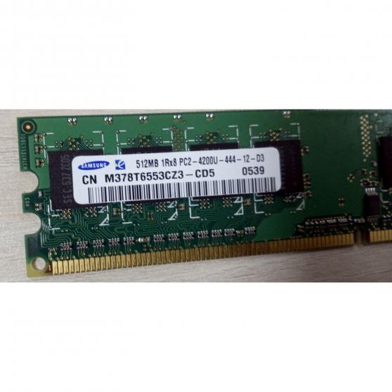 Annonce occasion, vente ou achat 'Barrette RAM SAMSUNG 512MB 1Rx8 PC2-4200'