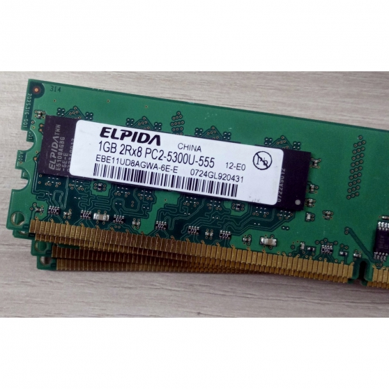 RAM 1GB ELPIDA EBE11UD8AGWA-6E-E PC2-530