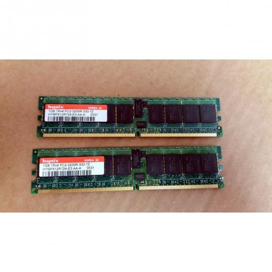 Annonce occasion, vente ou achat 'Mémoire RAM HYNIX 1GB 1Rx4 PC2-3200R-333'