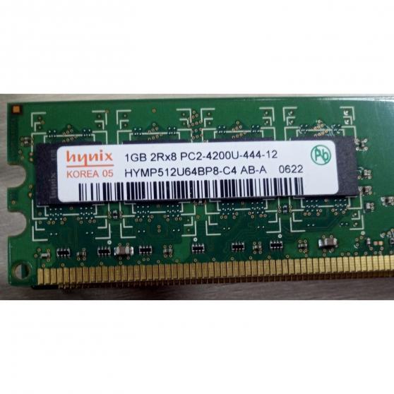 Annonce occasion, vente ou achat 'RAM HYNIX 1GB 2Rx8 PC2-4200U-444-12 HYMP'