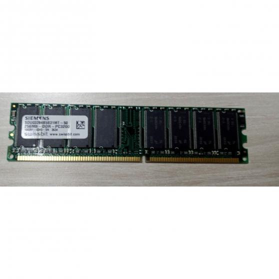 Annonce occasion, vente ou achat 'Barrette RAM SIEMENS 256MB DDR PC3200 10'