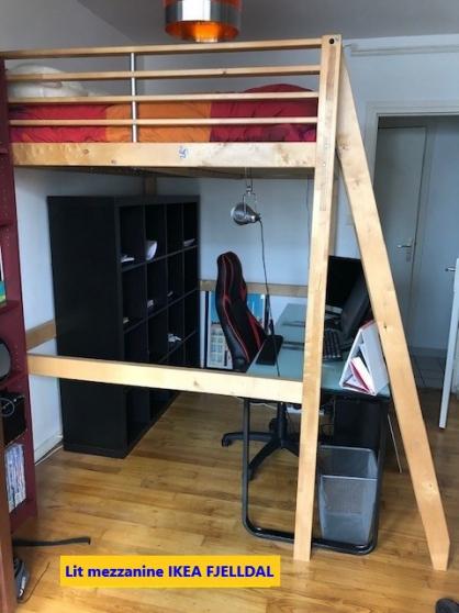 Annonce occasion, vente ou achat 'Lit mezzanine 2 places en bois - IKEA S'