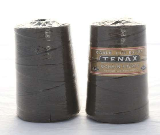 2 bobines TENAX cable lin COUSIN n° 632