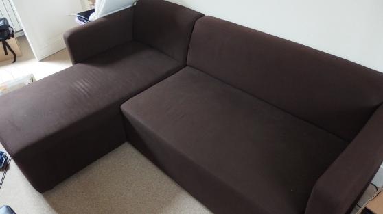 Canapé d'angle modulable chocolat